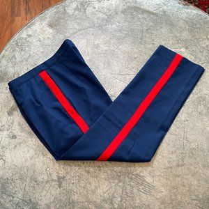 Vintage DSCP Military Pants Blue Red Stripe